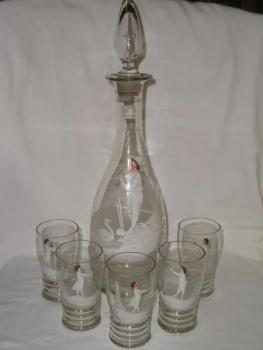 Carafe with Pouring Glasses - 1880
